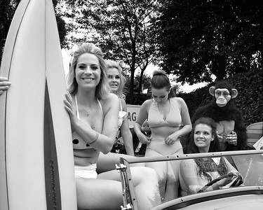 Bikini Beach with Monkey at the Goodwood Revival 2016
