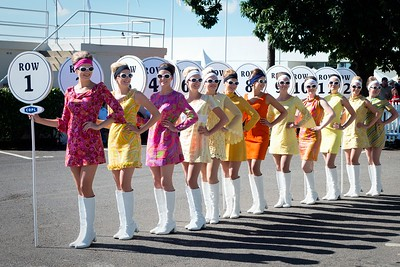 Startline Lollipop Girls  at the Goodwood Revival 2016
