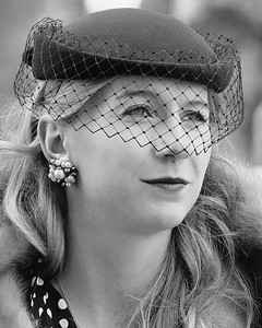 Blue Hat and Veil - Goodwood Revival 2015