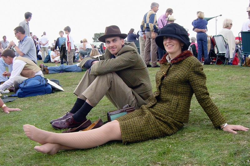 period dress at goodwood 2002