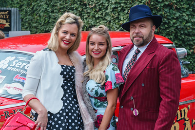 Family All Dressed up - The Goodwood Revival 2018