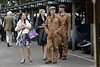 Period Couples in the Paddock - The Goodwood Revival 2017