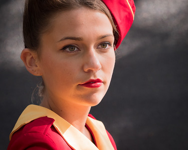 Glam Cabs Girl Portrait - The Goodwood Revival 2018
