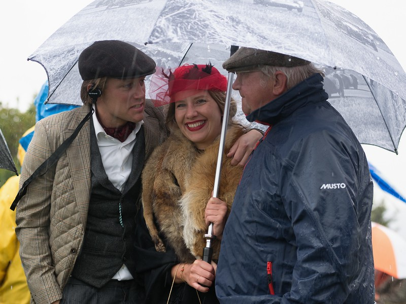 Sharing a Brolly with Dolly - The Goodwood Revival 2017