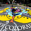 "Volunteers get close to completing their Paint the Pavement art project.<br /> Members of the Goss Grove Neighborhood Association spent much of Sunday painting the pavement at the intersection of 19th Street and Goss in Boulder.<br /> For more photos and a video, go to  <a href=""http://www.dailycamera.com"">http://www.dailycamera.com</a>.<br /> Cliff Grassmick / September 25, 2011"