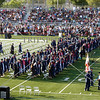 Graduating students marching in during the Citrus Hill High School 2013 commencement in Perris, California.