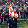 Graduating students and Junior ROTC with the colors during the Citrus Hill High School 2013 commencement in Perris, California.