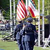 Junior ROTC marching with the colors during the Citrus Hill High School 2013 commencement in Perris, California.