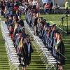 Graduating students standing during the Citrus Hill High School 2013 commencement in Perris, California.