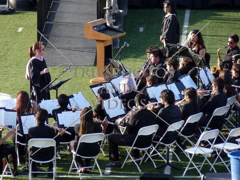 School Band during the Citrus Hill High School 2013 commencement in Perris, California.