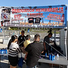 Graduation memorabilia stand at Citrus Hill High School 2013 commencement in Perris, California.