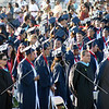 Graduating students and school staffs during the Citrus Hill High School 2013 commencement in Perris, California.
