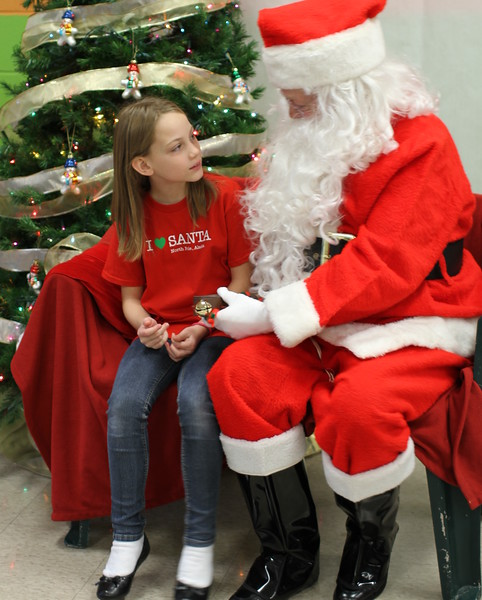 Guinevere with Santa