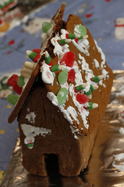 Link's Gingerbread House for Christmas 2011.