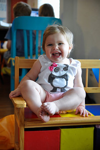 Happy laughing toddler.