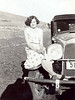 Another recently found snapshot of my grandmother Hazel sitting on a car in 1931.  Taken around the time Gert and Hazel were married and a few years before the birth of my mother.