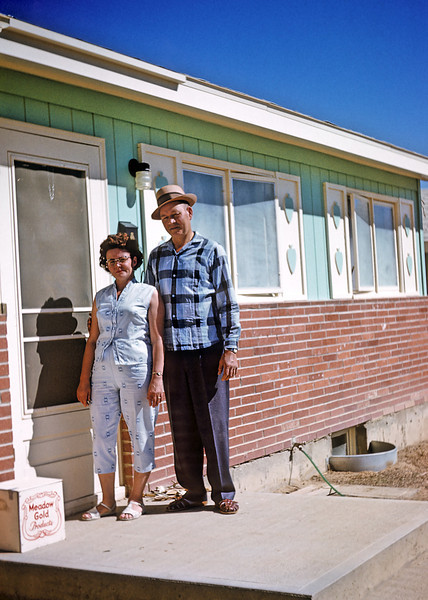 Gert and Hazel standing on the porch of the first house my parents ever owned in Casper Wyoming in 1960. My dad actually remembered a rough street address after more than five decades allowing me to locate a highly likely exact location with Google street view.