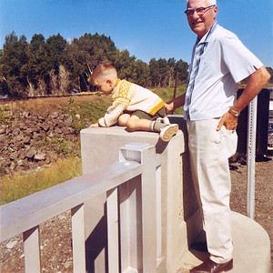 My grandfather Frank watching over my brother Steve in the summer of 1967. We all have fond memories of Frank, at least the dwindling number of us alive that still remember him.