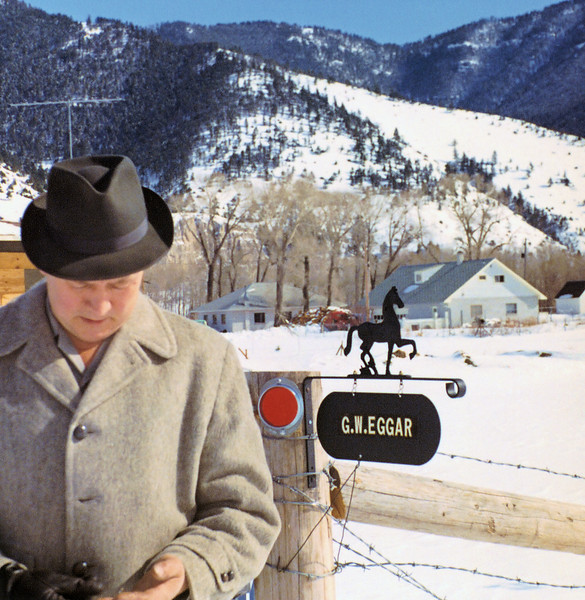 Gert by his mailbox outside of Livingston Montana.