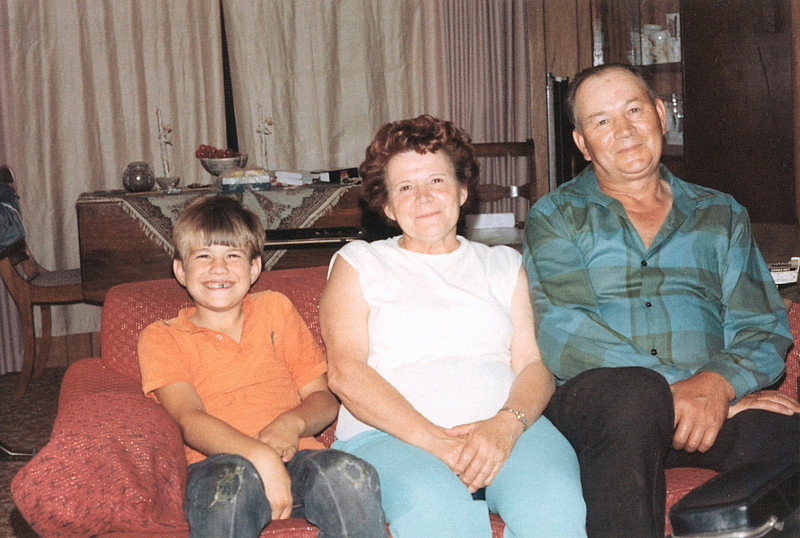 My brother and maternal grandparents.