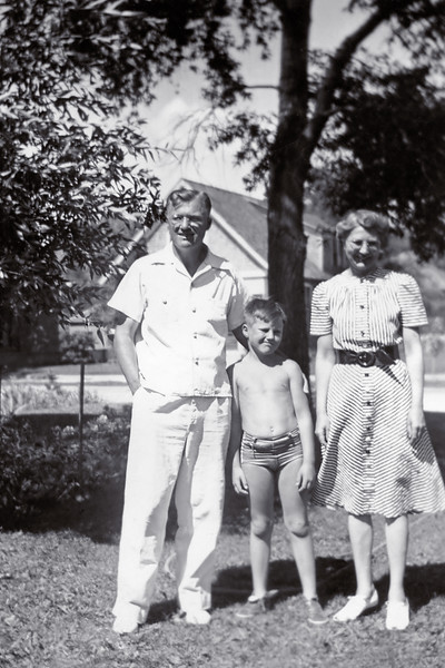 A rare dated snapshot of my grandparents Frank (Senior) and Helen with my dad Frank. Taken in the summer before Pearl Harbor, just before the US entered World War II. My grandfathers were already too old for the draft and my father was way too young. This family slipped through the chaos relatively unscathed. Avoiding the craziness of any age is the hallmark of good fortune and intelligence.