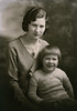 My grandmother Helen and her daughter Janice sometime in the late 1920s. Janice was my father's sister. He never met her because Janice drowned in the Yellowstone River when she was about seven years old. Janice looks about five or six here so this must have been about two years before her tragic death. Janice's death shook my paternal grandparents; they never completely got over it. When my dad was born Helen didn't let him out of her sight; he didn't enjoy the freedom of his friends because Helen was terrified something would happen to him like Janice.  She was still overprotective when I came along. I sometimes wonder how different my father's life would have been if Janice had lived.
