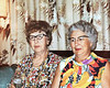 Margo and Helen in Helen's Livingston living room in 1970. Margo was one of Helen's older sisters. She outlived Helen by many years and died in her nineties.  Margo collected Madonnas and built up an impressive collection that she proudly displayed in her apartment. When I was growing up I was under the impression that Margo was a good Catholic but silly me there is no such thing as a good Catholic - original sin kinda rules it out. She was excommunicated from the church for marrying a divorced man. The man in question was her boss, a Seattle lawyer that had a thing for his secretaries like Margo. Finding all this out increased my respect for Margo. I can fully understand screwing around; it's seriously believing sky fairy nonsense that gives me pause.
