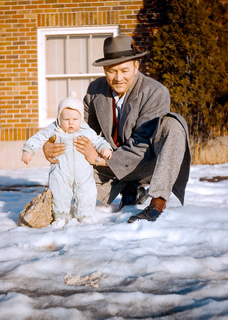 My maternal grandfather Gert with me in 1954. It's transparencies like this that make me glad that Hazel was using Kodachrome slide film. The original slide is old enough to collect Social Security but the colors are still beautifully warm and balanced. Kodachrome approaches black and white negatives for archival durability.  I wonder how many grandchildren of today's millennials will get a chance to view their grandparent's digital images. Unless you take complete control of archiving digital files and moving them from one storage device to another as technology changes I can assure you nobody will be looking at your Instagram or SmugMug shots seventy years from now.