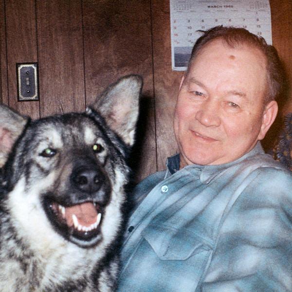 Gert and Heidi in my grandfathers house near Livingston Montana.