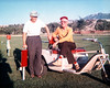 My grandfather Frank sitting on his first golf cart with a friend. Frank was an avid golfer throughout his life. In his prime, he frequently shot par and maintained a low handicap.  In later years he developed Buerger's disease and could no longer walk around golf courses. Instead of giving up golf he got a cart. He was among the very first cart owners in Livingston. I had a great time on this cart. I enjoyed riding it so much I started golfing just to have an excuse to cruise with Frank.
