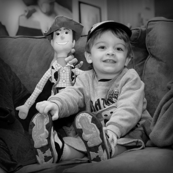 Fast Friends<br /> Kamren and his new friend, Woody.