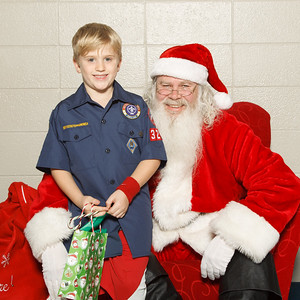 2016 Pack 3201 with Santa
