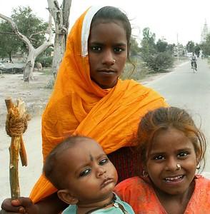 Children of a Gypsy Encampment outside of Ferozpur, Punjab. North India.