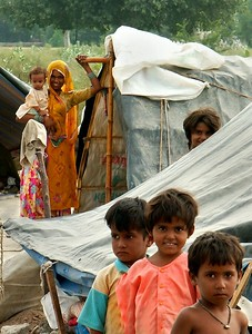 Gypsy Encampment outside of Ferozpur, Punjab. North India.