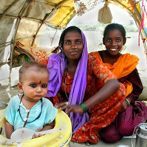 In a Gypsy Encampment outside of Ferozpur, Punjab. North India.