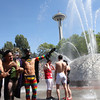 2011 Pride march celebration at Seattle Center, Washington by Nick Shiflet