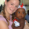 "Me with my ""Haitian baby"" Rachelle."