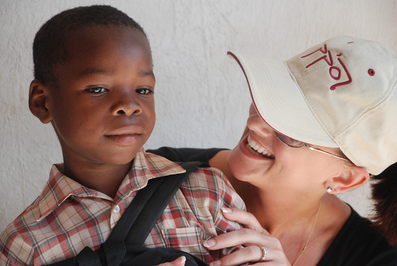Christy with her sponsor child.