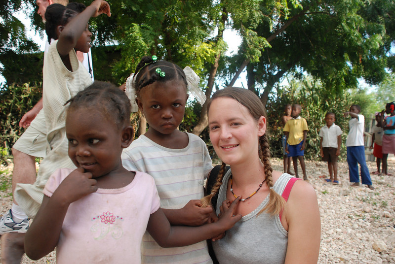 New Jerusalem Orphanage. Here's my buddy, Clara (girl in the middle). She is also in the Haiti March 2007 gallery. She seemed to remember me, and latched on real quick. Still not many smiles though. We miss her.