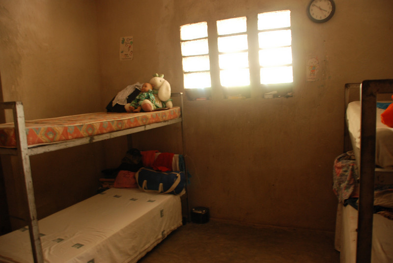 "Here is a girls room at the New Jerusalem Orphanage. While still not the best, the new orphanage site is so much better than it was when I visited in March. At that time, the kids were living in a ""tent"" made of clothe and sticks."