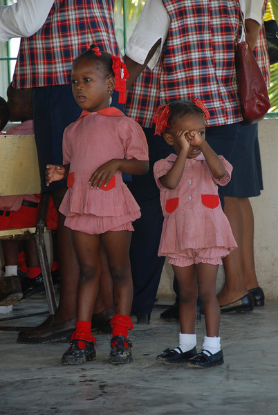 Young school girls at the School of Hope (Mission of Hope's school).