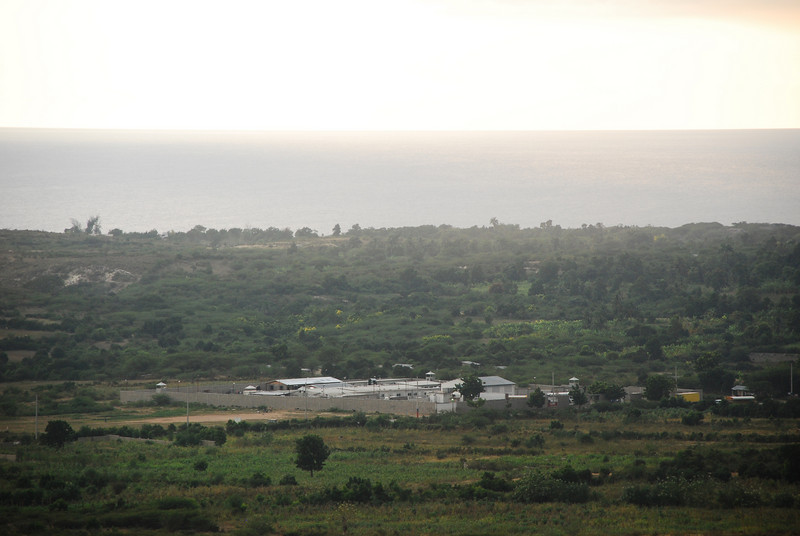 U.N. compound can be seen from Mission of Hope.