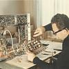 Brian assembling a Heathkit television
