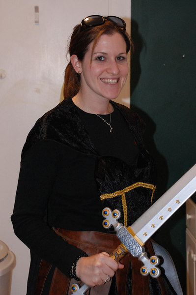 She-gladiator JulieSue