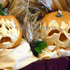 Carved pumpkins for Halloween celebration on board a cruise ship while at sea.