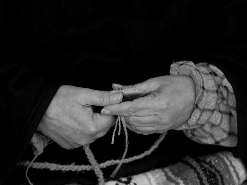 Cutting twine to use in frontier style clothing