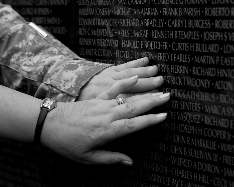 looking for a name on the Vietnam Wall