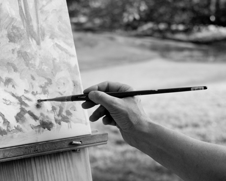A painters hand at Callaway
