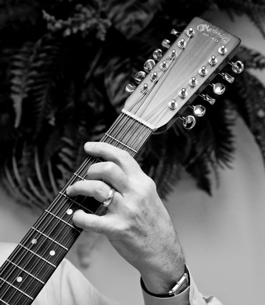 A hand on the 12 string