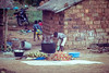 Preparing food for lost of people. Kinshasa. Congo DRC